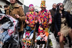 Clowns en famille