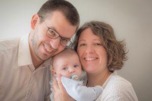 Portrait de famille en trio