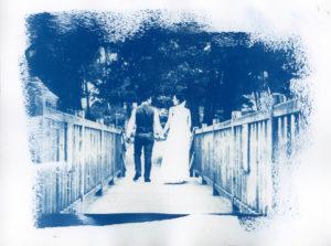Mariés sur le pont à Tremelin