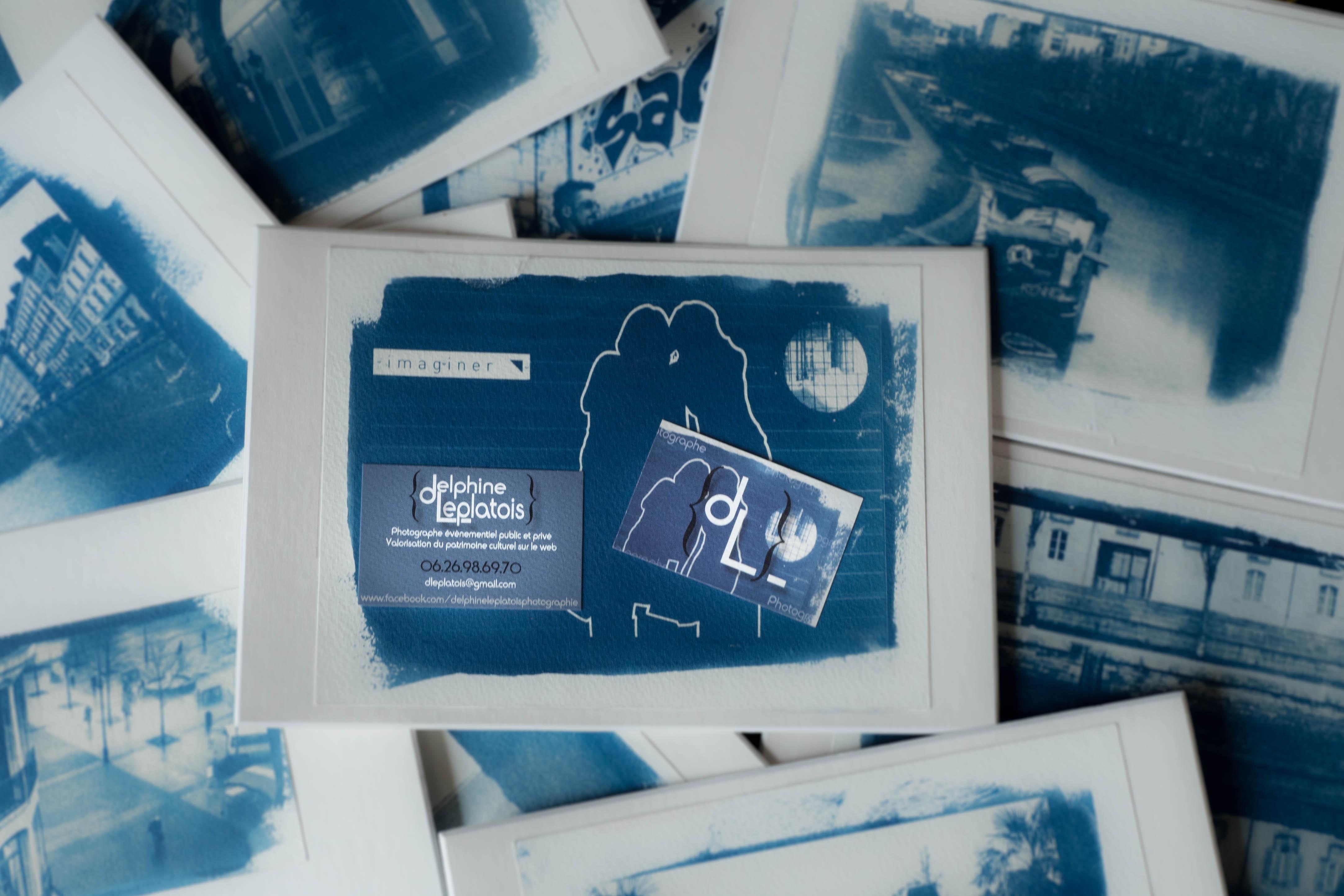 Exposition de plusieurs cyanotypes